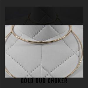 Gold duo choker